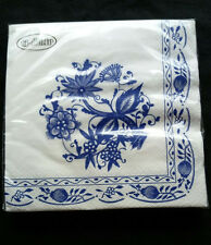 20 X Vintage Style Afternoon Tea Party Paper Napkins Shabby Chic Porcelain Blue