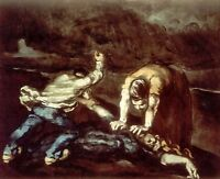 The Murder by Paul Cezanne Giclee Repro on Canvas
