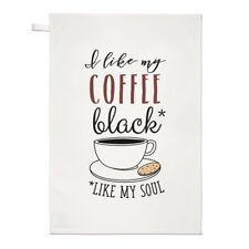 me gusta mi café negro Like My Soul Paño Cocina Plato Paño - Divertido