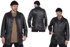 taille 50 française officier noir NOUVEAU Veste en cuir Veste d'extérieur