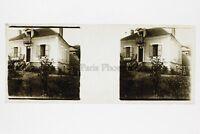 A Balcone Foto Amateur Placca Da Lente Stereo Ca 1920