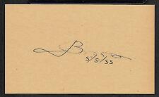 Joseph Bonanno Autograph Reprint On Original Period 1950s 3X5 Card