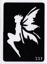 GT337 Body Art Temporary Glitter Tattoo Stencil Fairy Fairies