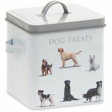 DOG TREAT DRY FOOD DOG STORAGE TIN