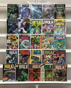 Hulk Marvel  25 Lot Comic Book Comics Set Run Collection Box
