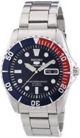 Seiko 5 Mens Automatic Divers Watch SNZF15K1 Steel Bracelet Pepsi Bezel RRP£279