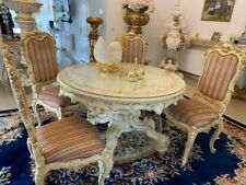SILIK ITALY ORIGINAL SILIK BAROQUE STYLE DINING ROOM TABLE AND 4 CHAIRS #S85