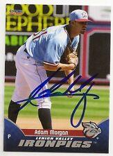 Adam Morgan 2015 Lehigh Valley IronPigs Signed Card