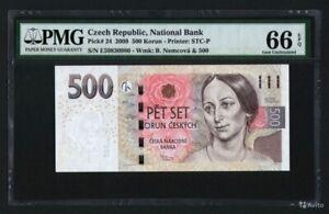 CZECH REPUBLIC 500 korun 2009 PMG 66 EPQ Gem UNC