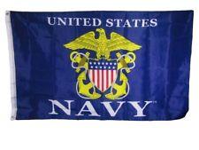 3x5 U.S. Navy USN Logo Eagle Anchor Blue Emblem 150D Poly Flag 3'x5'