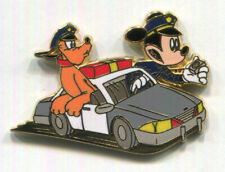 MICKEY MOUSE & PLUTO Police Officers Patrol Car Vehicle Disney Store Japan Pin