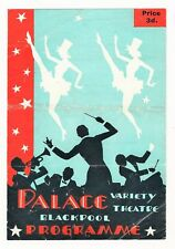 PALACE THEATRE BLACKPOOL 1948 EDDIE EARLE BABETTE REG DIXON BILLY COTTON ADELE