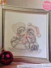 (X) Me To You Tatty Teddy Bear Ice Skating Christmas Cross Stitch Chart