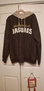 NFL Men's Jacksonville Jaguars Full Zip Reversible Jacket Black/Grayl Sz.XXL