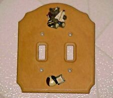 Double Switch Plate Cover Child Boy Bedroom Teddy Bear Sailboat Nursery