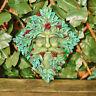Diamante Verde Man Spirit Placca Con Rosso Bacche Giardino Esterno Muro Arte