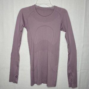 LULULEMON Women's Swiftly Tech Long Sleeve Pink Taupe Size 2 EUC