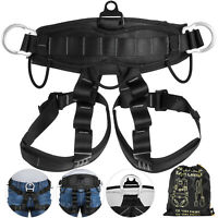 Zipline Abseiling Rock Tree Climbing Safety Harness Fall Protection Sit Belt