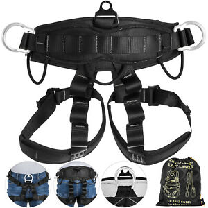 22KN Zipline Abseiling Rock Tree Climbing Safety Harness Fall Protection Belt