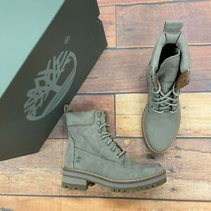 Timberland Women's Courmayeur Valley 6 Inch Taupe nubuck Boots A1RQX