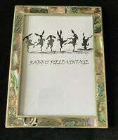 "Vintage Mother of Pearl Silverplated Picture Frame 4 x 6"" Alpaca Mexico"