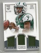 2013 National Treasures Football Geno Smith NFL Gear 3X Jersey Rookie Card 41/99