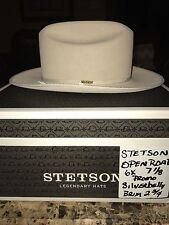 """STETSON """"OPEN ROAD PROMO"""" 6X SILVERBELLY WESTERN HAT SIZE 7 1/8 !!"""