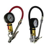 1/4 NPT Air Tire Pressure Filler Inflator Gauge Air Compressor Hose 0-220PSI