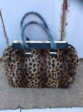 Lovely New Look Oversized Leopard Print Faux Fur Bag/Handbag - BNWT