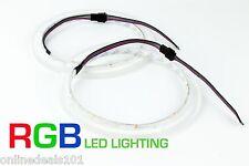 "2pc RGB LED Speaker Rings Rockford Fosgate Marine M282 M282B-Wake Drilled 8"""