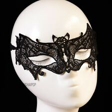 Lace Bat Eye Mask Cat Woman Venetian Masquerade Party Prom Ball Carnival Black