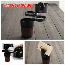 Black 5in1 Multifunction Car SUV Cup Holder Phone/Bottle Storage Organizer Box