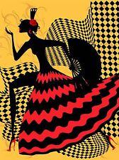 Impresión arte cartel Pintura Dibujo Español Bailarina De Flamenco Diseño lfmp1111