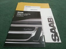 1988 / 1989 Model SAAB RANGE 900 9000 CANADIAN BROCHURE + CANADA DEALER LIST