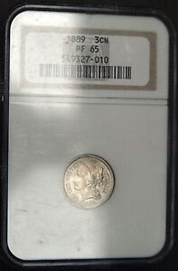 1889 Three Cent Nickel  NGC Proof 65 Low Mintage  (C5630)
