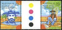 Australia Scott #741a and #741e Traffic Light Gutter Pair Mint Never HInged
