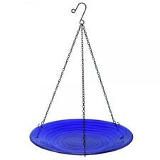 Bird Baths Cobalt Swirls Glass Hanging Bird Bath Se5049