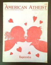 American Atheist Magazine Lupercalia Vol 24 #2 Feb 1982 Madalyn Murray O'Hair