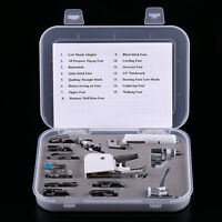 15pcs Sewing Machine Presser Feet Set Walking Foot Kit For Janome Brother Singer