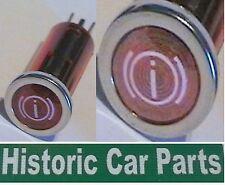 """Panel """"Handbrake On"""" Red 13mm dia warning light 1970s"""