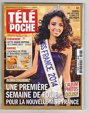 Flora Coquerel Miss France 2014 ♥  pour Collectionneur ♥ TELE POCHE déc 2013