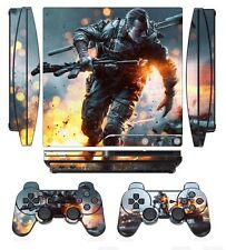 Battle 259 Skin Sticker Cover for PS3 PlayStation 3 Slim and 2 controller skins