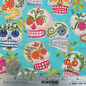 Alexander Henry MINI CALAVERAS Turquoise Cotton Quilt Fabric by the YARD