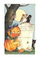 Vintage Halloween Pumpkin Handmade DIGITAL Counted Cross-Stitch Pattern Chart