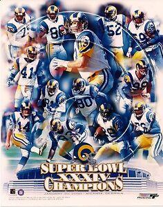 "2000 St. Louis Rams Super Bowl XXXIV 8"" x 10"" Photo"