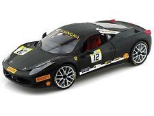 Hot Wheels BCT90 Ferrari 458 Challenge Racing 1:18 Diecast Model Car #12 Black