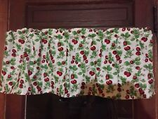 Rose And Hubble Strawberries all over a window valance handcrafted FREE SHIPPING