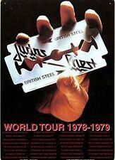 Judas Priest British Steel Tour Letrero De Metal 290mm X 210mm (Ka) reducido a borrar