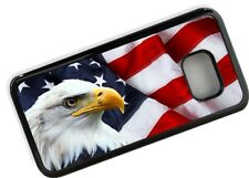 American Bald Eagle & US USA Flag Novelty Black Fashion Case Cover for Galaxy S7
