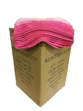 """240 Microfiber Pink 12""""x12"""" Cleaning Detailing Cloths Towels Auto Car Rag 300GSM"""